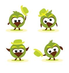 cartoon birds vector image vector image
