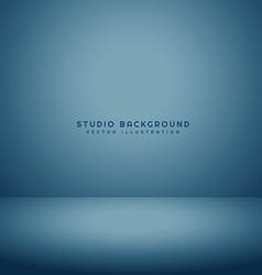 clean empty studio room vector image vector image