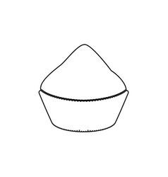 Cupcake black color path icon vector