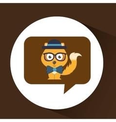 Cute fox hipster symbol icon design vector