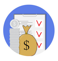 Finance plan icon vector