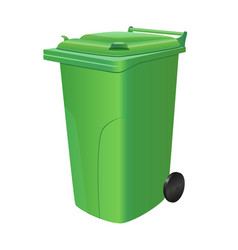 green trash can vector image vector image