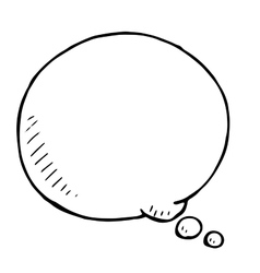 Hand drawn speech bubble doodle vector image vector image