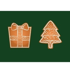 Merry christmas cookies card vector image vector image