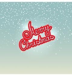 Merry christmas on snowfall background vector