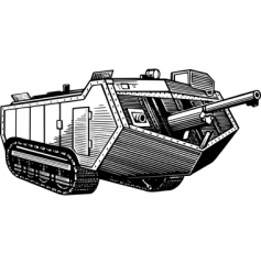 old tank vector image
