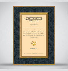 professional gold and black certificate vector image