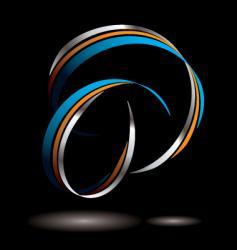 ribbon tangle vector image