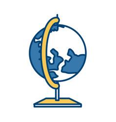 school earth globe vector image