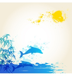 sea blue vector image