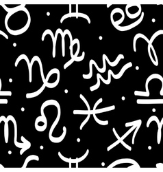 Seamless pattern with zodiac signs for your design vector image