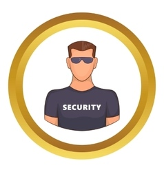 Security guard male icon vector