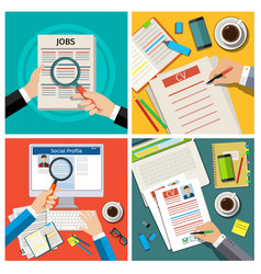 Set of job interview concept vector