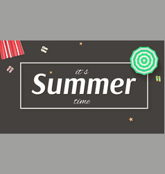 summer background banner with sun umbrellas vector image vector image