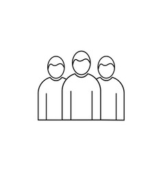 Team group linear icon vector