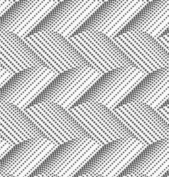Textured with halftone squares horizontal chevron vector image