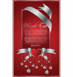 vector background with the diamond vector image vector image