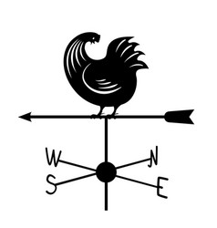 Weathervane - black running rooster3 vector