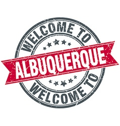 Welcome to albuquerque red round vintage stamp vector