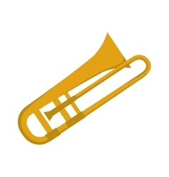 Trumpet instrument music sound icon vector