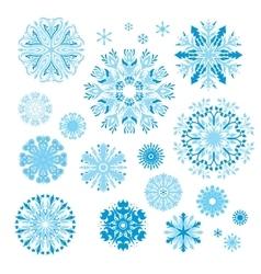 Creative Snowflakes Set vector image