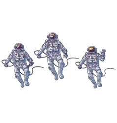 Set of cosmonauts vector