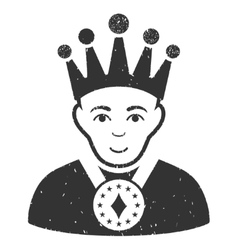 King grainy texture icon vector