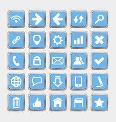 Square icons social media and internet vector