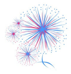 Holiday firework vector
