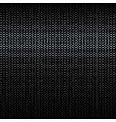 Seamless black metal texture with highlight vector image
