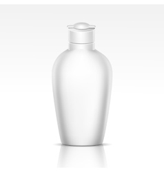 Bottle for shampoo shower gel liquid soap vector