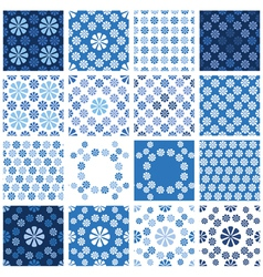 Blue seamless 4 380 vector