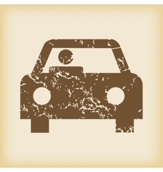 Grungy car icon vector