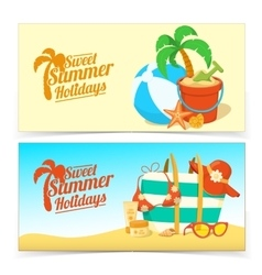 Sea shore and beach accessories vector