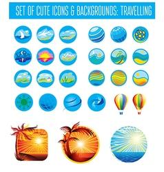 Set icons tReavel vector image
