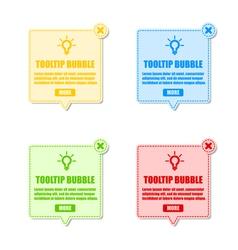 tool tip design elements vector image