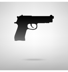 Gun black icon vector