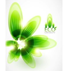 nature green leaf background vector image