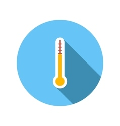 Outdoor thermometer flat icon vector
