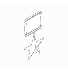 Order star icon isometric 3d style vector