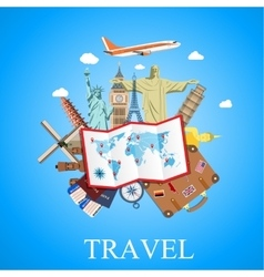 Travel by plane vector
