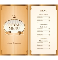 royal menu for a cafe or restaurant vector image