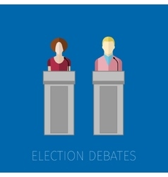 Concept of election debates vector
