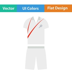 Tennis man uniform icon vector