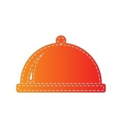 Server sign  orange applique isolated vector