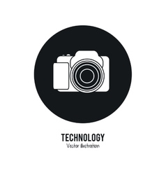 Camera icon internet of things design vector