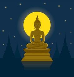 Buddha image buddhist holy day vector
