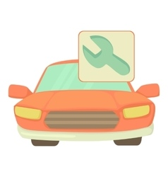Car repairs icon cartoon style vector