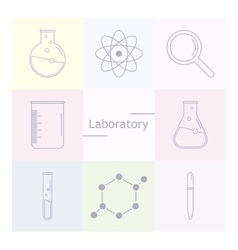 Chemicals and science icons vector image vector image