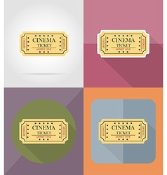 Cinema flat icons 11 vector
